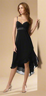 Bridesmaid dress AA6471 Black