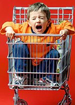 Child Tantrum in Shopping Cart