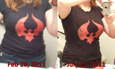 BK Shirt Comparison: Feb 28 - July 21